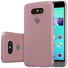 Custodia Plastica Rigida Opaca R01 per LG G5 Oro Rosa
