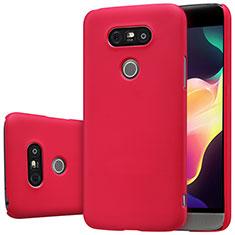 Custodia Plastica Rigida Opaca R01 per LG G5 Rosso