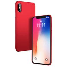 Custodia Plastica Rigida Opaca W01 per Apple iPhone X Rosso
