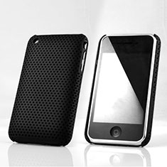 Custodia Plastica Rigida Perforato per Apple iPhone 3G 3GS Nero
