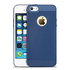Custodia Plastica Rigida Perforato per Apple iPhone 5 Blu