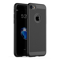Custodia Plastica Rigida Perforato per Apple iPhone 8 Nero
