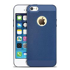 Custodia Plastica Rigida Perforato per Apple iPhone SE Blu
