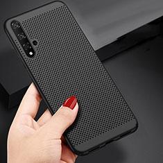Custodia Plastica Rigida Perforato per Huawei Nova 5T Nero