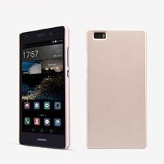 Custodia Plastica Rigida Perforato per Huawei P8 Lite Oro Rosa