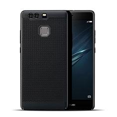 Custodia Plastica Rigida Perforato per Huawei P9 Nero