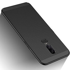 Custodia Plastica Rigida Perforato per OnePlus 6 Nero