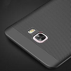 Custodia Plastica Rigida Perforato per Samsung Galaxy C9 Pro C9000 Nero