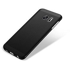 Custodia Plastica Rigida Perforato per Samsung Galaxy S7 Edge G935F Nero