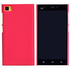 Custodia Plastica Rigida Perforato per Xiaomi Mi 3 Rosso