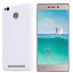 Custodia Plastica Rigida Perforato per Xiaomi Redmi 3 Pro Bianco