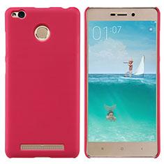 Custodia Plastica Rigida Perforato per Xiaomi Redmi 3 Pro Rosso