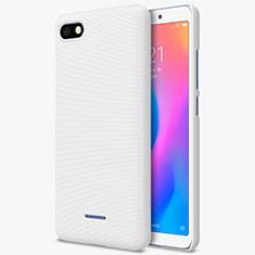 Custodia Plastica Rigida Perforato per Xiaomi Redmi 6A Bianco