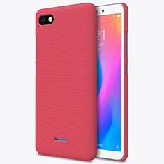 Custodia Plastica Rigida Perforato per Xiaomi Redmi 6A Rosso