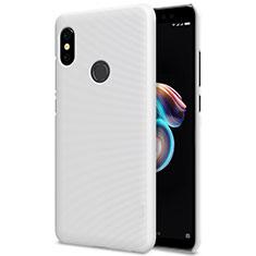 Custodia Plastica Rigida Perforato per Xiaomi Redmi Note 5 AI Dual Camera Bianco
