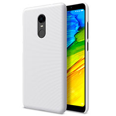Custodia Plastica Rigida Perforato per Xiaomi Redmi Note 5 Indian Version Bianco