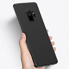 Custodia Plastica Rigida Perforato W01 per Samsung Galaxy S9 Nero