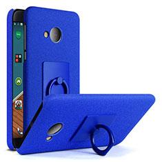 Custodia Plastica Rigida Sabbie Mobili con Anello Supporto per HTC U Play Blu