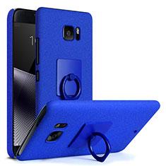 Custodia Plastica Rigida Sabbie Mobili con Anello Supporto per HTC U Ultra Blu