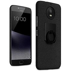 Custodia Plastica Rigida Sabbie Mobili con Anello Supporto per Motorola Moto G5S Nero