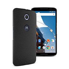 Custodia Plastica Rigida Sabbie Mobili per Google Nexus 6 Nero