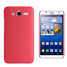 Custodia Plastica Rigida Sabbie Mobili per Huawei Ascend GX1 Rosso
