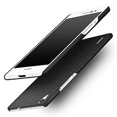 Custodia Plastica Rigida Sabbie Mobili per Huawei Ascend P7 Nero
