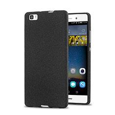 Custodia Plastica Rigida Sabbie Mobili per Huawei P8 Lite Nero