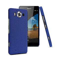 Custodia Plastica Rigida Sabbie Mobili per Microsoft Lumia 950 Blu