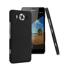 Custodia Plastica Rigida Sabbie Mobili per Microsoft Lumia 950 Nero