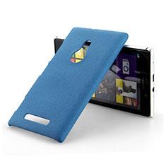 Custodia Plastica Rigida Sabbie Mobili per Nokia Lumia 925 Blu
