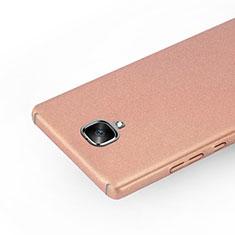 Custodia Plastica Rigida Sabbie Mobili per OnePlus 3T Oro Rosa