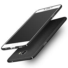 Custodia Plastica Rigida Sabbie Mobili per Samsung Galaxy C7 Pro C7010 Nero