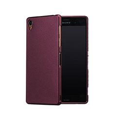 Custodia Plastica Rigida Sabbie Mobili per Sony Xperia Z3 Rosso