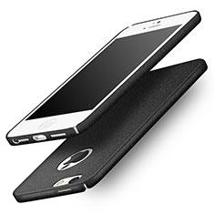 Custodia Plastica Rigida Sabbie Mobili Q01 per Apple iPhone SE Nero