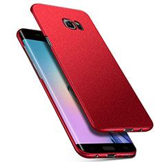 Custodia Plastica Rigida Sabbie Mobili Q01 per Samsung Galaxy S6 Edge SM-G925 Rosso