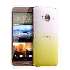 Custodia Plastica Trasparente Rigida Sfumato per HTC One Me Giallo