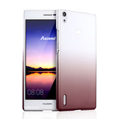 Custodia Plastica Trasparente Rigida Sfumato per Huawei P7 Dual SIM Marrone