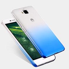 Custodia Plastica Trasparente Rigida Sfumato per Huawei Y6 Pro Blu