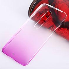 Custodia Plastica Trasparente Rigida Sfumato per Motorola Moto X Style Rosa