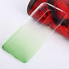 Custodia Plastica Trasparente Rigida Sfumato per Motorola Moto X Style Verde
