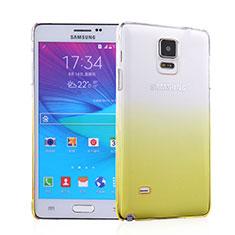 Custodia Plastica Trasparente Rigida Sfumato per Samsung Galaxy Note 4 Duos N9100 Dual SIM Giallo