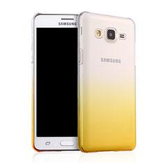 Custodia Plastica Trasparente Rigida Sfumato per Samsung Galaxy On5 Pro Giallo