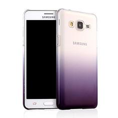 Custodia Plastica Trasparente Rigida Sfumato per Samsung Galaxy On5 Pro Viola