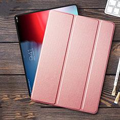 Custodia Portafoglio In Pelle con Stand L01 per Apple iPad Pro 12.9 (2018) Rosa