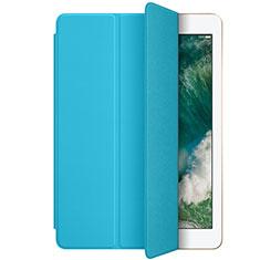 Custodia Portafoglio In Pelle con Stand L01 per Apple New iPad 9.7 (2017) Cielo Blu