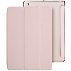 Custodia Portafoglio In Pelle con Stand L01 per Apple New iPad 9.7 (2017) Rosa