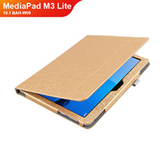 Custodia Portafoglio In Pelle con Stand L01 per Huawei MediaPad M3 Lite 10.1 BAH-W09 Oro