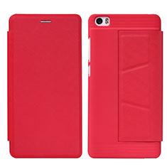 Custodia Portafoglio In Pelle con Stand L01 per Xiaomi Mi Note Rosso