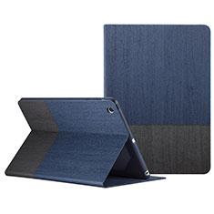 Custodia Portafoglio In Pelle con Stand L02 per Apple iPad Mini 3 Blu